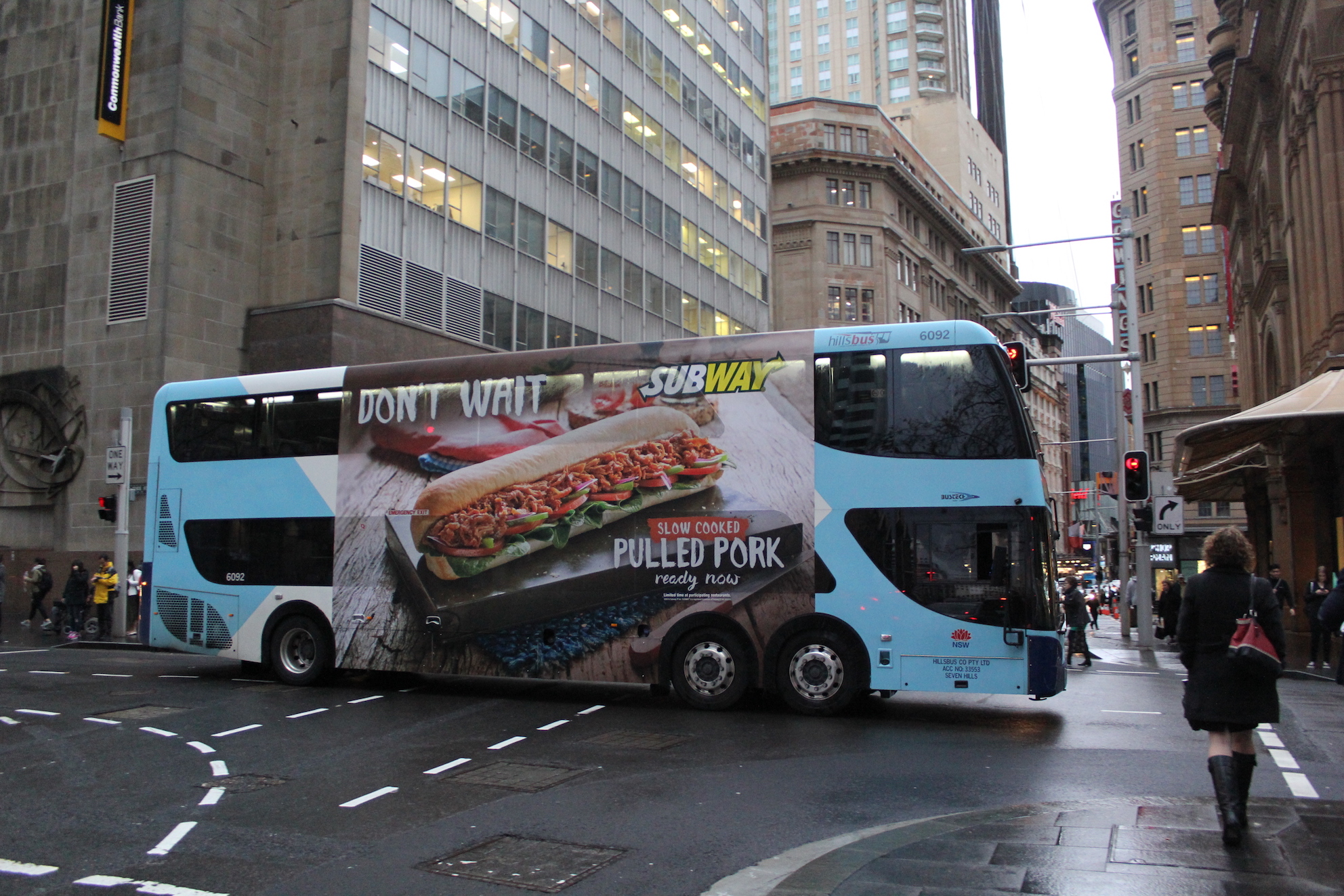 SUBWAY bus with advertising