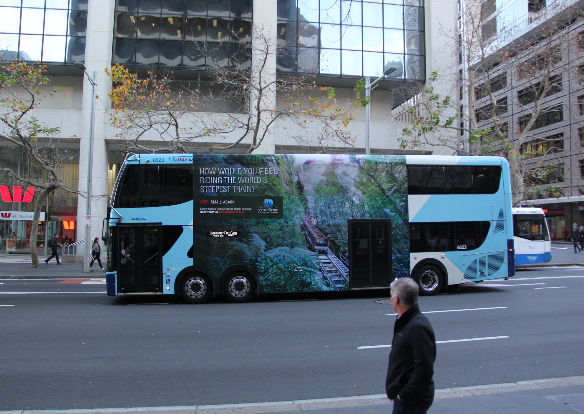 double decker SCENIC WORLD blue mountains sydney nsw bus advertising